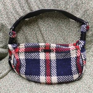 Kate Spade Festive Plaid Wool Knit Handbag OS
